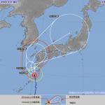 台風12号2016の気象庁の最新進路予想!関東や東京への影響は?