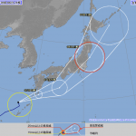 2016台風13号の気象庁の最新進路予想!関東や東京の影響は?
